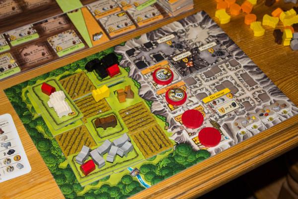 Eksempel på spillområdet på slutten av spillet