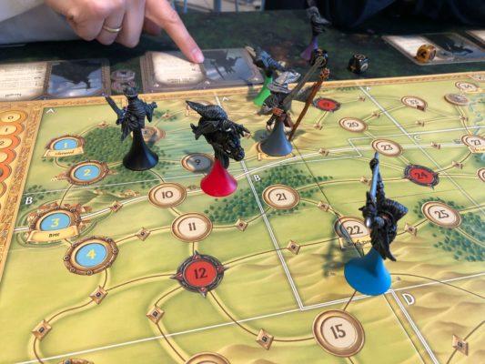 Ringskrømtene rundt på kartet i Hunt for the Ring.