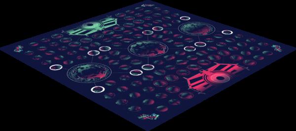Bilde av spillebrettet til Orbit Battle.