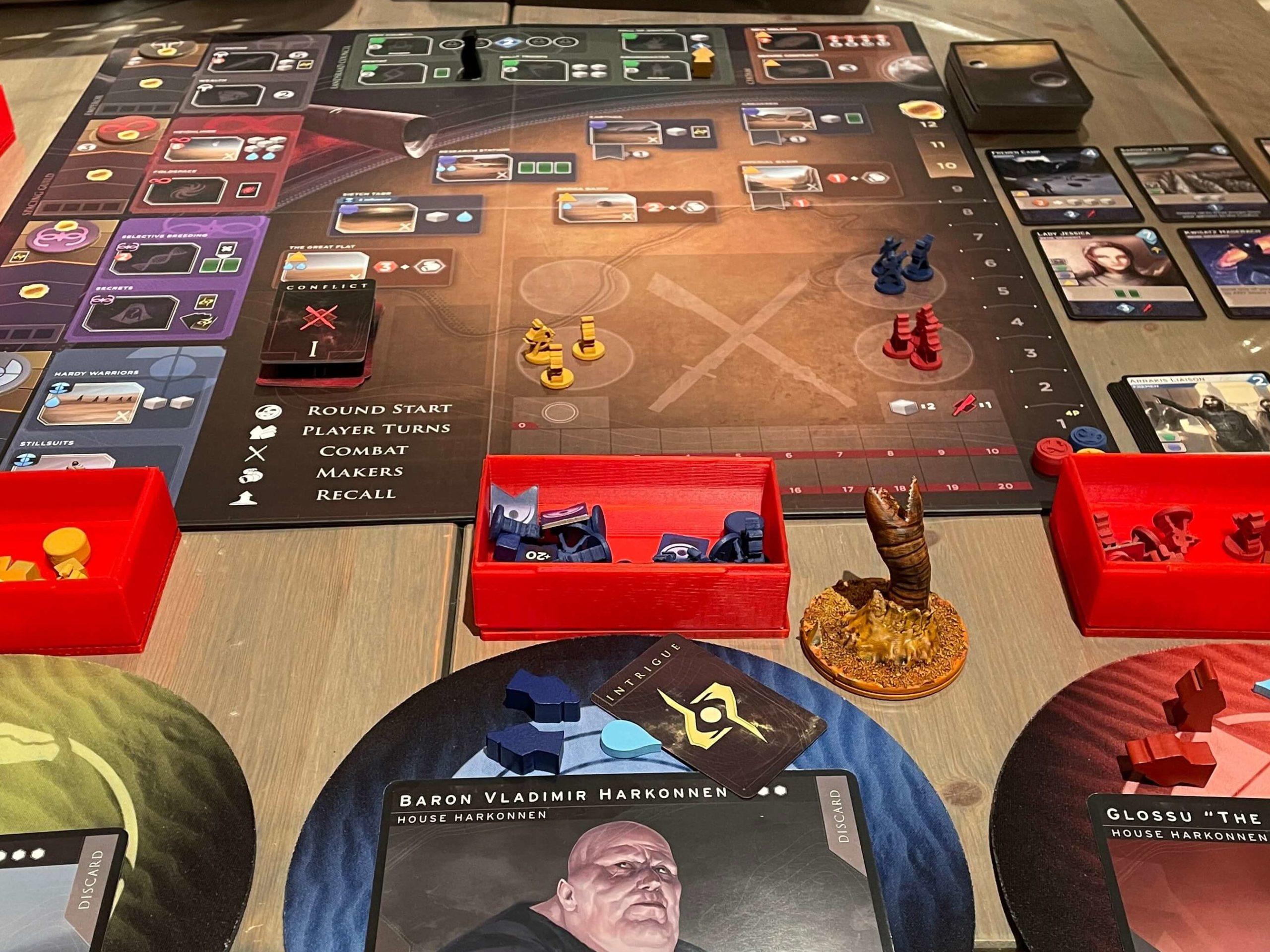Dune Imperium med masse egne oppgradering av komponentene