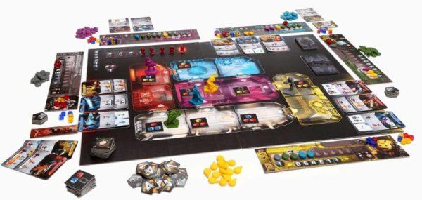 Oversikt over spillebrett og komponenter i Adrenaline.